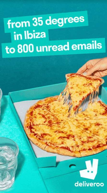 best social media ad design: Instagarm ad design - Deliveroo