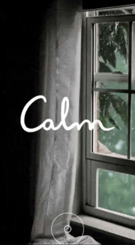 best social media ad design: Instagarm ad design –Calm