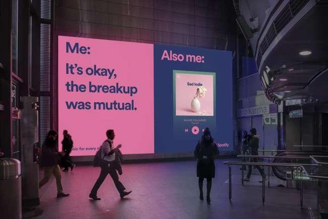 campaign design: Spotify marketing campaign breakup example