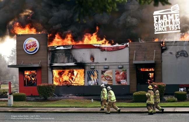 best magazine ad design: Burger King