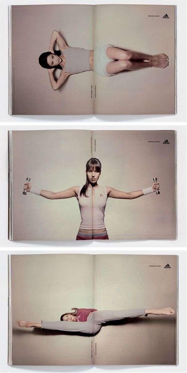 Adidas magazine ad design example