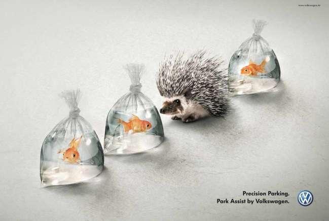 Volkswagen magazine ad design example