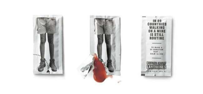 Campaign Against Landmines advertisement