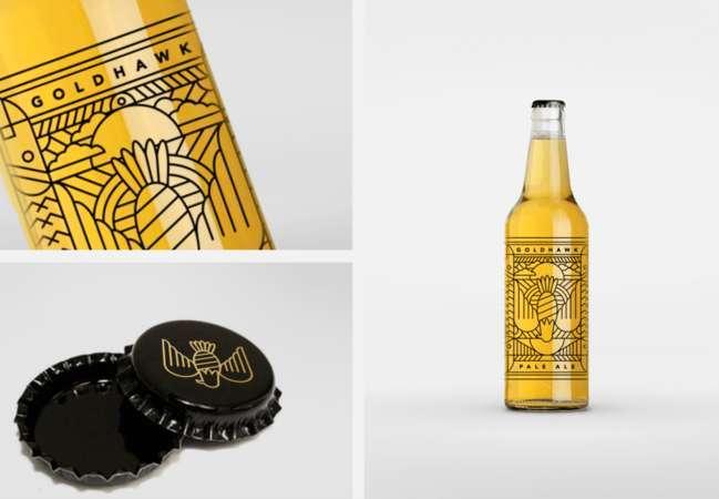 best beer label design: Goldhawk Ale