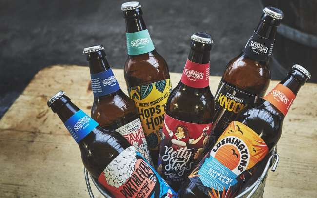 best beer label design: Skinner'sAles