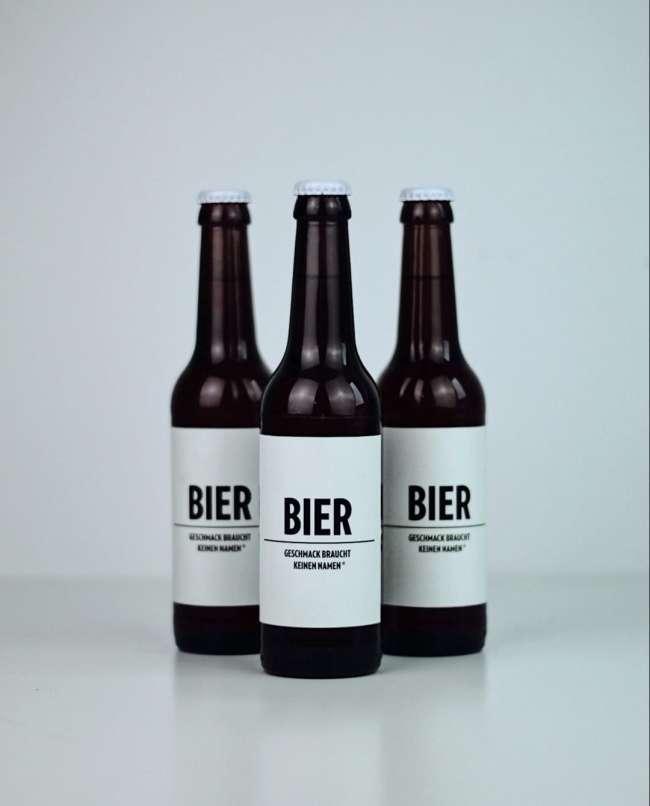 Bier Bier label design
