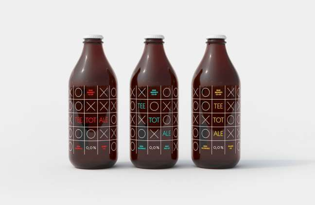 Tee Tot Ale label design