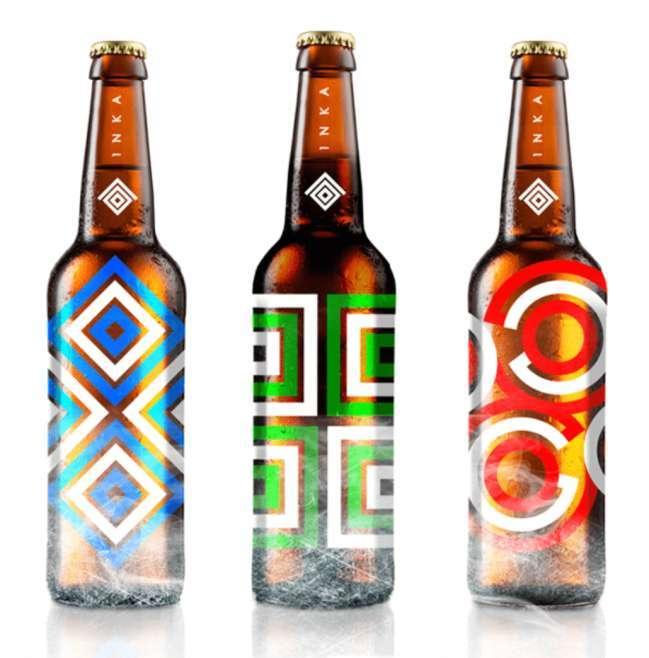 Inka Premium Beer label design