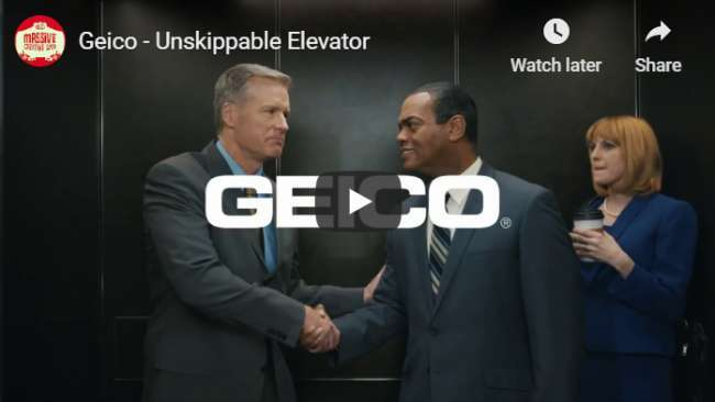 YouTube pre-roll ad examples: Geico