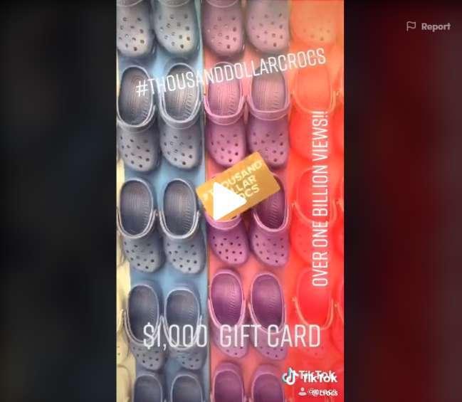 TikTok ad design examples: Crocs
