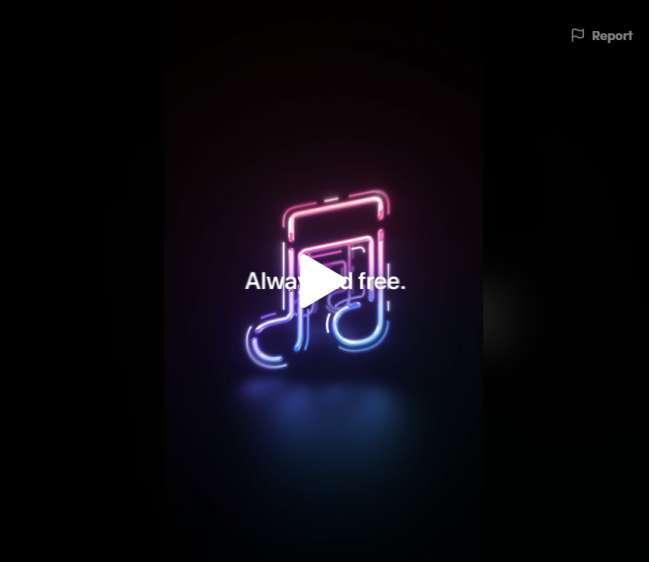 TikTok ad design examples: Apple Music