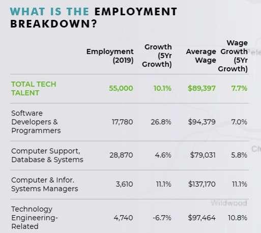 Software companies in St. Louis: tech talent break down in St. Louis