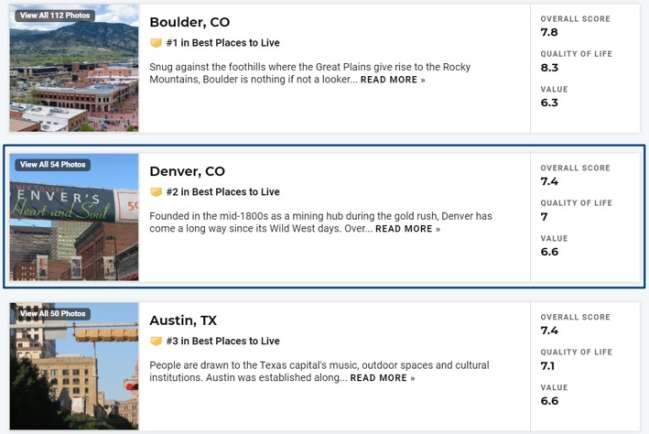 Denver branding agencies: best places to live in the U.S.