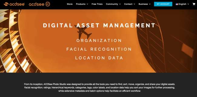 best photo management software: screenshot of ACDSee homepage