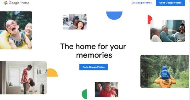 bestphoto management software: screenshot of Google Photos homepage