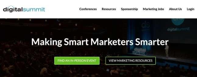digital marketing conference digital summit website screenshot