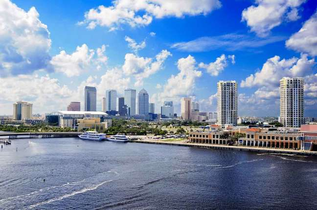 Tampa's cityscape and harbor