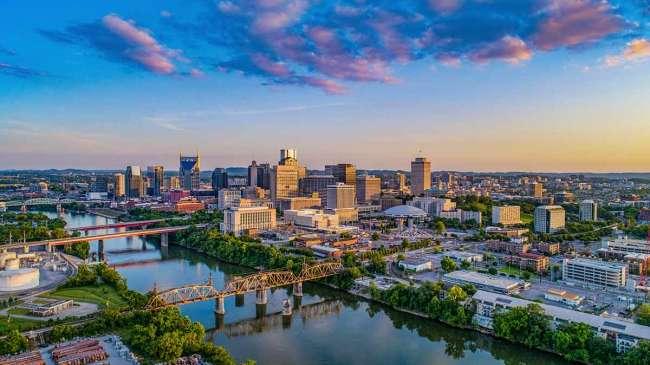 Skyline view of Nashville, Tennessee