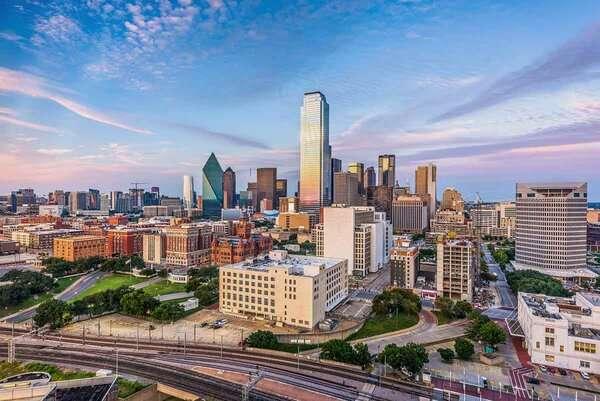 City skyline of downtown Dallas