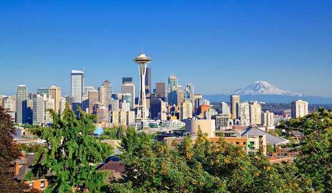 branding agency seattle: view of Amazon's headquarters in Seattle