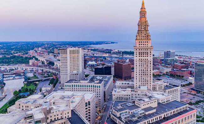 aerial view of Cleveland