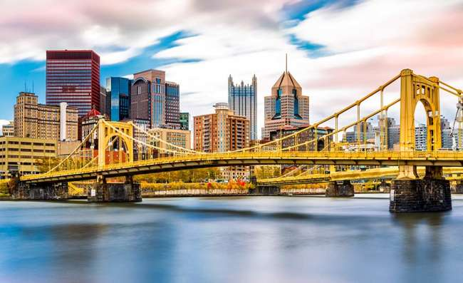 view of Pittsburgh and river