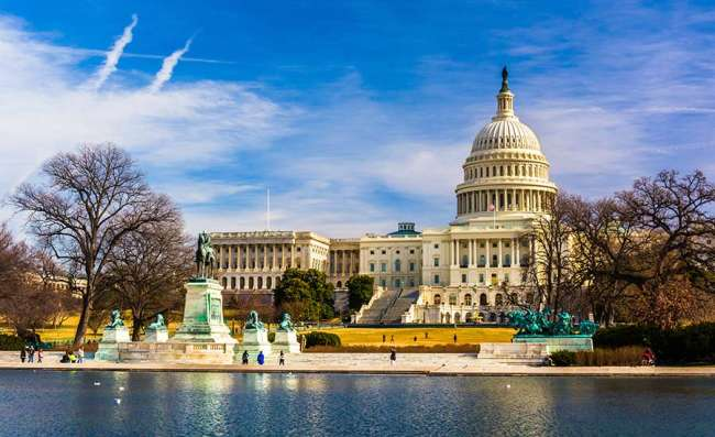 view of the Capitol in Washington DC