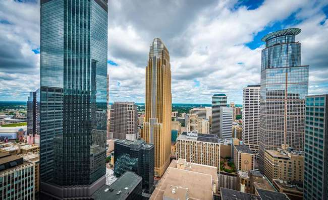 Business district in downtown Minneapolis
