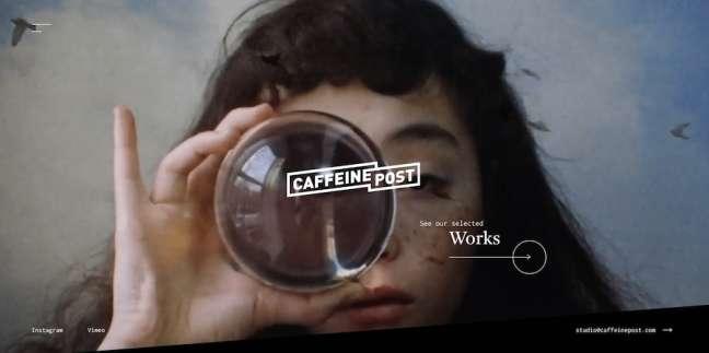 Caffeine Post - best fashion website design examples