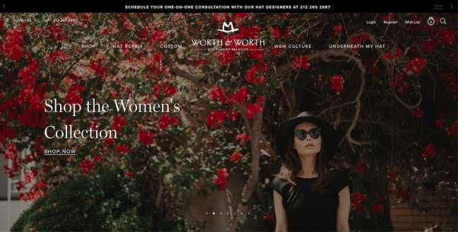 Worth&Worth fashion website design