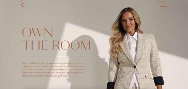 Briony Croft fashion website design