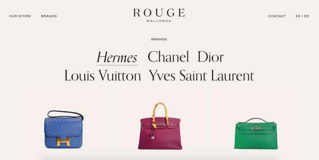 Rouge Mallorca fashion website design