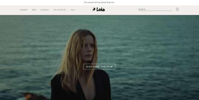 Lois Jean Store fashion website design
