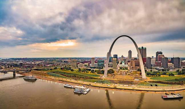view of St. Louis arch