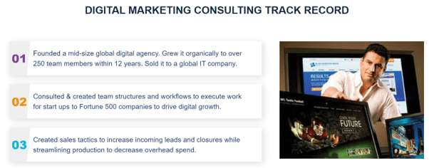 Proven track record of an SEO consultant