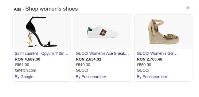 adwords agency: example paid ads on Google
