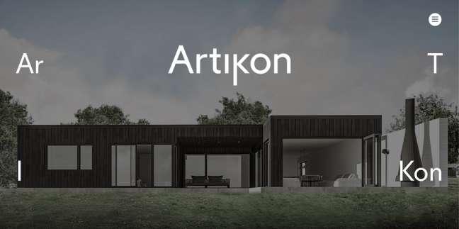 Artikon architecture website design