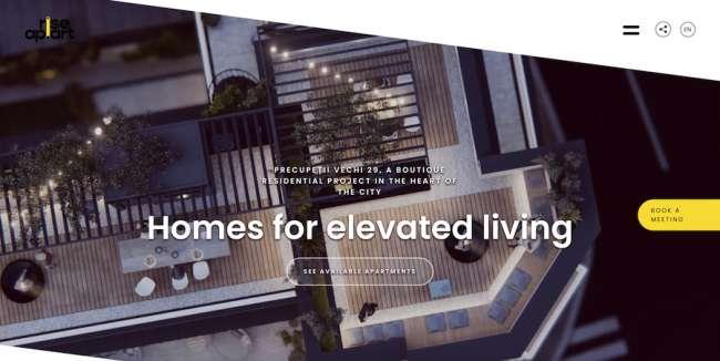 Rise Ap.Art architecture website design