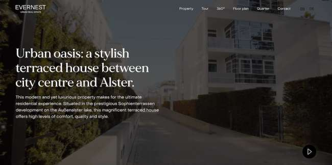 Evernest architecture website design