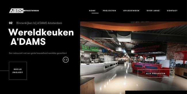 Abro architecture website design