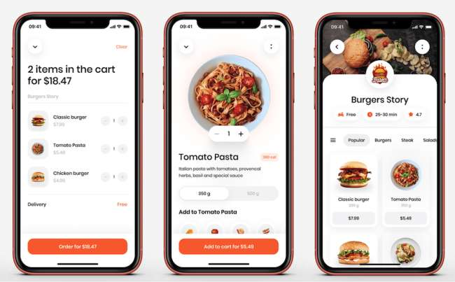 Food Delivery Mobile App by Ronas IT Food & Drink App and Website Design