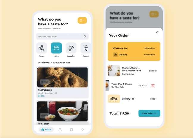 Food Delivery App by Tarrea Tolbert Food & Drink App and Website Design