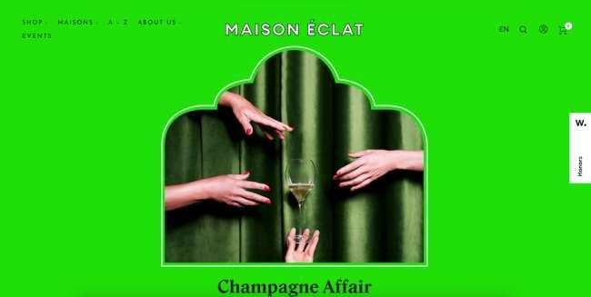 Maison Eclat Food & Drink App and Website Design