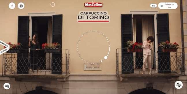MacCoffee Cappuccino di Torino Food & Drink App and Website Design