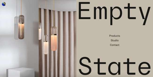 Empty State architecture website design