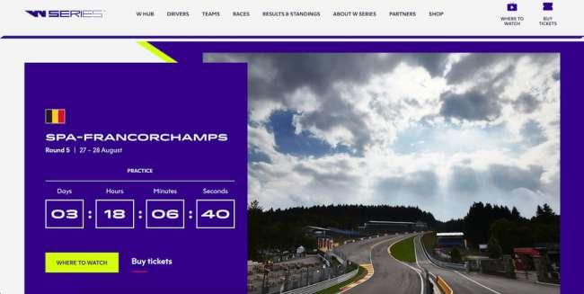W Series Best Sports Website
