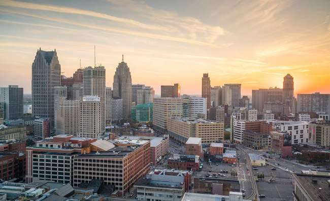 city view of Detroit
