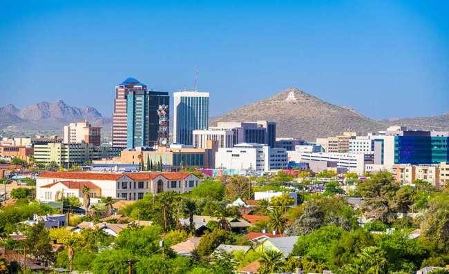 View of downtown Tucson, AZ