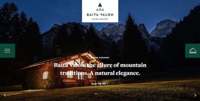 Baita Valon Travel Website Design