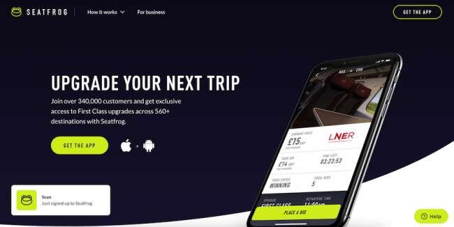 Seat Frog Travel Website Design